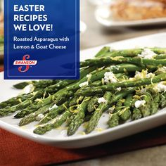 After you try this recipe, it will be difficult to make asparagus any other way. You'll see how roasting the asparagus brings out exquisite flavors that are enhanced by just the right amount of goat cheese and lemon. Baked Asparagus, Asparagus Recipe, Garlic Broccoli, Vegetable Side Dishes, Vegetable Recipes, Easter Dinner Recipes, Veggie Delight, Reception Food, Cooking Recipes