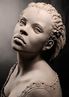 Impressive bust sculpted by Philippe Faraut