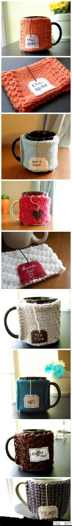 Such good ideas for cup cozies