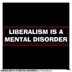 LIBERALISM IS A MENTAL DISORDER CAR BUMPER STICKER | Zazzle