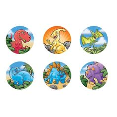 Roll of 100 Dinosaur Stickers! Perfect for decoration or party favors. Only $2.99