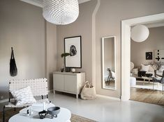 The beige color trend for 2020 continues to grow. Why beige interiors are trending and how to decorate in off white hues. Beige Wall Colors, Room Paint Colors, Color Beige, Beige Walls, Interior Wall Colors, Interior Walls, Home Interior Design, Interior Livingroom, Kitchen Interior