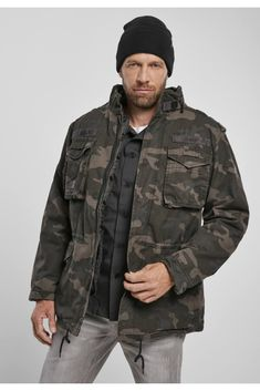 Military Jacket, Camouflage, All Weather Jackets, Professional Look, Black And Navy, Vintage, Sleeves, How To Wear, Urban