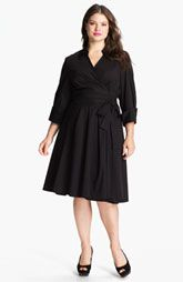 Donna Ricco Wrap Shirt Dress (Plus)
