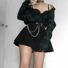 Grunge Outfits, Tumblr Outfits, Edgy Outfits, Mode Outfits, Korean Outfits, Egirl Fashion, Teen Fashion Outfits, Grunge Fashion, Korean Fashion