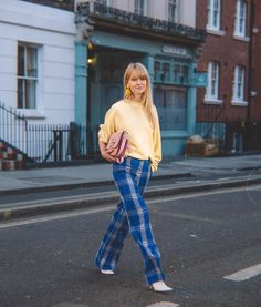 "Michaela Efford on Instagram: ""London street style 💛 @_jeanettemadsen_ is brightening up the streets with this colourful outfit 💙📸 by @michaelaefford . . .…"" London Street, Colourful Outfits, London Fashion, Tartan, Street Style, Photography, Color, Instagram, Photograph"