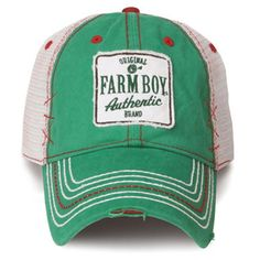 Farm Boy Green Patch Mesh Cap