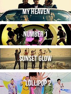 My Heaven/Number 1/Sunset Glow/Lollipop 2