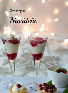 Postre navideño fácil | Blog de BabyCenter Sweet Desserts, Sweet Recipes, Snack Recipes, Dessert Recipes, Christmas Dishes, Christmas Desserts, Tapas, Dessert Cups, Xmas Food