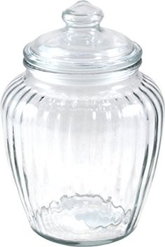 Anchor Hocking Optics Ribbed Glass Storage Jar 60 Ounce    You Can Find  More Details