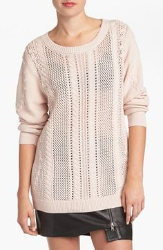 Leith 'Open Vine' Cable Knit Sweater