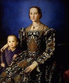 Eleanora of Toledo Renaissance Gown. $650.00, via Etsy.