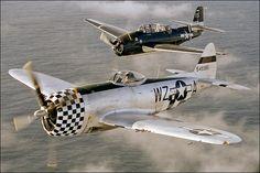 Avenger & P-47