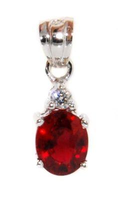 Solitaire Pendant Unique Ruby Diamond 18K White Gold [P00... https://www.amazon.com/dp/B00CJUWQ4W/ref=cm_sw_r_pi_dp_n7wFxbV9J4C58
