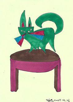녹색 고양이 / green cat