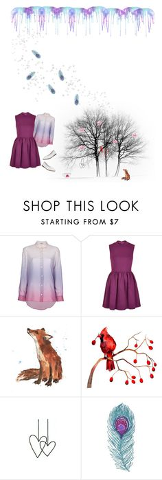 """raining purple."" by mdnzta ❤ liked on Polyvore featuring Acne Studios, Topshop and Repetto"