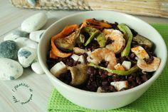 Insalata di riso venere con verdure e gamberi | I pasticci di mamma Alex