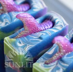 Mermaid Soap - Theia Artisan Soap by Sunlitsoap on Etsy https://www.etsy.com/listing/229521695/mermaid-soap-theia-artisan-soap