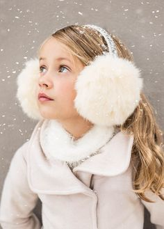 Gwendolyn Earmuffs | Featuring beautiful faux fur and a jewel encrusted headband, these ear muffs are sure to dazzle. A perfect way to keep her little ears warm during cold days!