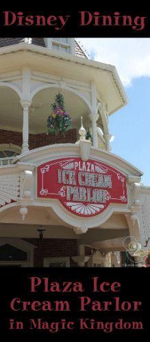 Plaza Ice Cream Parlor in Magic Kingdom Disney World Food, Disney World Restaurants, Disney World Magic Kingdom, Disney World Parks, Disney World Planning, Walt Disney World Vacations, Disney Trips, Disney Menus, Disney Tickets