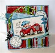 handmade card: toot toot Lily of the Valley - Bing Images  ... like guy in red roadster just like Uncle Al's ...