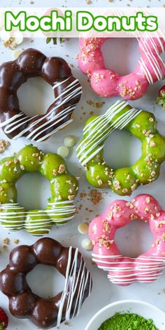 The Best Mochi Donuts are chewy, dense & deliciously glazed. You have got to try this yummy recipe & make these gorgeous donuts for yourself! #bestmochidonuts #thebestmochidonuts #bestmochidonutsrecipe #bestmochidonutrecipe Desserts Ostern, Köstliche Desserts, Healthy Dessert Recipes, Delicious Desserts, Yummy Food, Breakfast Recipes, Birthday Desserts, Yummy Eats, Breakfast Ideas