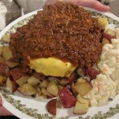 Meat  Sauce (Garbage Plate, Hot Dog style) Allrecipes.com