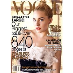 """The subject of the 2009 documentary """"The September Issue"""", the 2007 September issue of American Vogue broke records in publishing."""