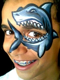 Face Painter in Salt Lake City and all over Utah Shark Face Painting, Monster Face Painting, Face Painting Images, Animal Face Paintings, Face Painting For Boys, Belly Painting, Face Painting Designs, Animal Faces, Cheek Art