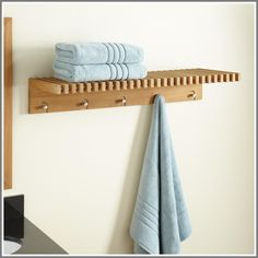 towel rack shelf with hooks-#towel #rack #shelf #with #hooks Please Click Link To Find More Reference,,, ENJOY!! Teak Bathroom Shelf, Teak Bathroom, Shelves, Towel Shelf, Towel Rack, Bathroom Furniture, Bathroom Accessories, Towels Design, Bathroom
