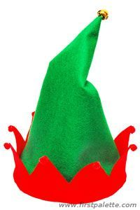 Christmas Elf Hat craft - DIY if I ever have to make an elf costume for kids school. Christmas Sewing, Felt Christmas, Christmas Ornaments, Fun Crafts For Kids, Christmas Crafts For Kids, Craft Kids, Diy Christmas Hats, Holiday Crafts, Costume Lutin