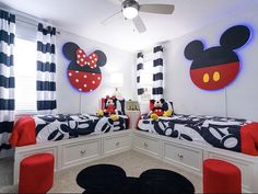 Such a cute theme for a shared boy/girl room!❤️🖤Credit to A photo posted by Interior Design
