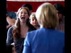 Pls RP: #DumpHillary Hillary Clinton incoherent on #ClimateChange heckled by women activists in NH