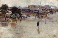 Arthur Streeton Redfern railway station - Arthur Streeton - Wikipedia, the free…