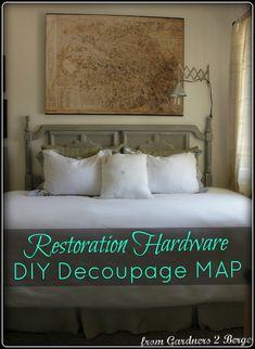 Restoration Hardware Decoupage Map ▫Knock Off▫