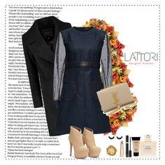 """LATTORI dress 14"" by mell-2405 ❤ liked on Polyvore featuring Distinctive Designs, Lattori, Yves Saint Laurent, Balmain, NYX, women's clothing, women's fashion, women, female and woman"