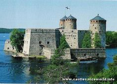 Correction:Olavinlinna castle - Finland Castle Pictures, Sweden Travel, Fantasy Castle, Spain And Portugal, Fortification, Medieval Castle, Central Europe, Finland, Beautiful Places