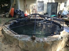 1000 images about garden pond maintenance filters tips for Koi pond cover
