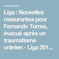 Liga : Nouvelles rassurantes pour Fernando Torres, évacué après un traumatisme crânien - Liga 2016-2017 - Football - Eurosport