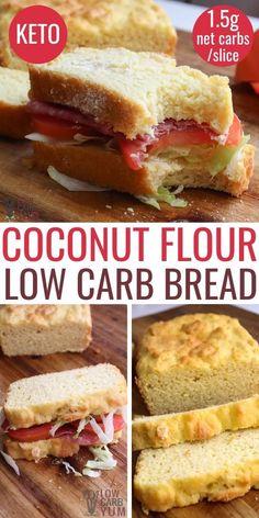 Keto Banana Bread, Best Keto Bread, Low Carb Bread, Low Carb Keto, Low Carb Recipes, Diet Recipes, Bread Recipes, Paleo Bread Recipe Easy, Keto Fat