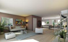 Dit is een interieur (de inrichting) van een huis. Een interieur is meestal door de mensen zelf bedacht.