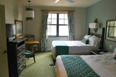 Bedroom 2 in a 2 bedroom villa at Disney's Hilton Head Island Resort.