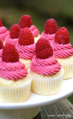 Easy Open House Recipe: Raspberry Lemonade Mini Cupcakes #ZipListed