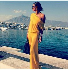 Yellow Maxi Dress Off the Shoulder!!