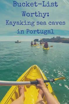 Kayaking with Kayak Adventures in Lagos, Portugal is the perfect way to see all of the awesome caves and rock structures dotted throughout the Algarve.
