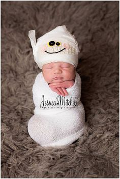 Newborn Mummy Hat-halloween hat-newborn prop-halloween on Etsy, $33.00