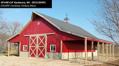 30'x48'x14' Cleary Suburban Energy Miser Building in Kaukauna, WI | Colors: Cardinal, Hickory Moss,