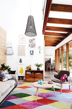 10 ambientes com tapetes coloridos | Danielle Noce
