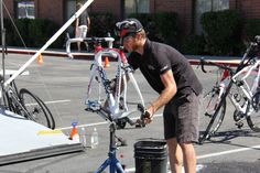 Countdown to the Tour of Utah: Workin' at the bike wash...  ©2012 Middle Aged Ski Bum