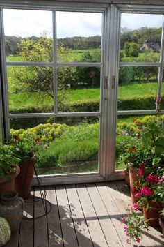 Sarah Raven's Perch Hill Farm- How I would love to have this view.